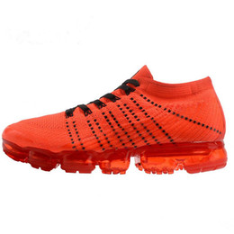Wholesale Orange Wedding Box - With box Vapormax Mens Running Shoes 2018 moc black belt New style For Men Sneakers Women Fashion Athletic Sports Shoes Walking Outdoor Shoe
