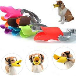 máscara de mascotas Rebajas Mascarilla para mascotas Máscara facial para perros Boca del cañón Antiarrugas Boca para mascotas Forma Cubiertas para la boca de silicona Anti-llamada Cubierta 8 colores 210pcs T1I905