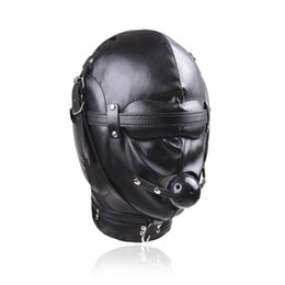 Wholesale Top Toys For Women - Top Grade Sex toys for woman Leather Mask Sex mask for men leather hood sexe jouets bdsm fetish Sex Collar for people Flirting Toy games