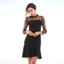 680abd1ba788d3 frauen s fashion sexy elegant Rabatt 2018 Herbst Winter Frauen Kleid Sexy  Elegant Schlank Hohe Qualität