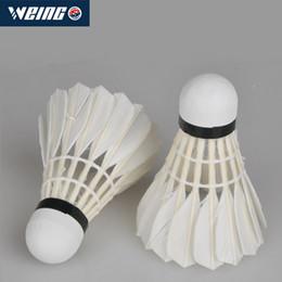 2019 feather material Badminton, 12 conjuntos de badminton no.5 atividades internas e externas do material de penas feather material barato