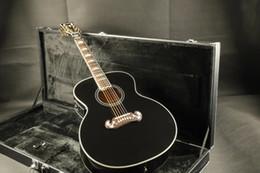 acoustique guitare électrique noir Promotion Livraison gratuite G- J200 Super Jumbo Standard Guitare Electro-Acoustique couleur noire avec guitares guitarra