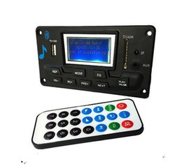 mp3 player board module Promo Codes - Bluetooth MP3 Decoding Board Module LED Lyric 12V DIY USB SD MMC WAV Decoder Record MP3 Player AUX FM Folders Switch Card Reader