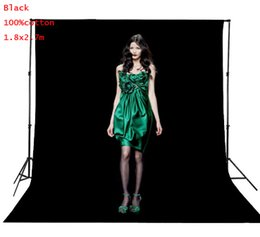 Wholesale Muslin Backdrops For Photography - 2X3 M PRO Photo Studio 100% Pure Muslin Collapsible Backdrop Background for Photography Video Television-Black
