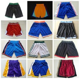 Wholesale men red trousers - Men Basketball Shorts 2018 Butler Durant Wade Sport Pant Whiteside Smith Porzingis ONeal McGrady Trousers George Hayward Redick Mike Bibby
