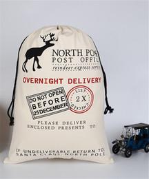 Sac cadeau de Noël, sac de toile de protection du coton en coton avec cordon de serrage, sac cadeau de Noël en coton, sac de Noël en wapiti ? partir de fabricateur