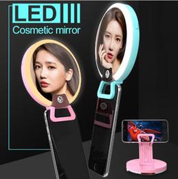 isolierfolienpapier Rabatt Clip auf LED Flash Selfie Schönheit Licht Mit Spiegel Telefon LED Fotografie Lampe Kosmetik Make-Up Spiegel 30 stücke OOA5337