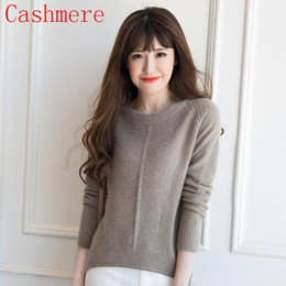 Hot Thick Girls 2018 Wholesale Women Sweater 100 Cashmere Knit Pullover 2016 New