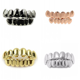 Wholesale Multi Grill - Gold Tooth Cap Halloween Costume Ball Prop Multi Color Fashion Hip Hop Teeth Grills High Quality 12jy C