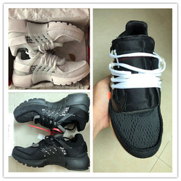 Wholesale leather tassels for sale - 2018 Top Quality OFF W Presto Black AA3830-002 Presto WHITE AA3830-100 2.0 AA3830--001 size 7-12 Mens Running Shoes For Sale with box Mark