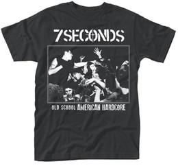Ropa de los segundos online-7 Seconds 'Ol d School America'Camiseta - Neuf et officiel Hombres Camiseta Hombre Ropa Tallas Grandes