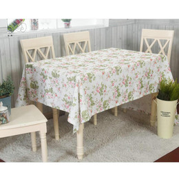 Wholesale Flower Tablecloths - Floral Tablecloth Pastoral Style Fashion Flower Printed Table Cover Decoration Home Dinning Room Desk Cloth Fresh Style