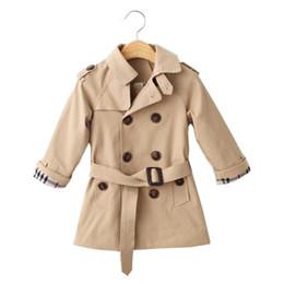 2019 мальчики весеннее пальто Девочки тренчи двубортные куртки для девочек одежда топы дети ветровка весна осень верхняя одежда для мальчиков дешево мальчики весеннее пальто