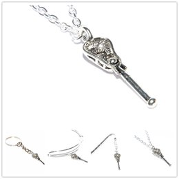 2019 joyas de plata 12pcs / lot collar de Lacrosse joyería plata Crosse colgante Lacrosse Stick collar equipo regalo joyas de plata baratos