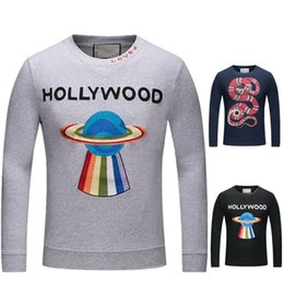 Wholesale Printed Hoodie Tiger - 2018 Luxury Designer Hoodies Men's Fashion Italian Tiger Print Men's Hoodies & Sweatshirts Cotton High Quality Men's Jacket