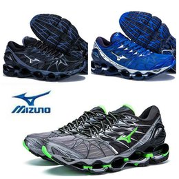 Wholesale wave shoes - 2018 New Arrive Authentic MIZUNO WAVE PROPHECY 7 Men Designer Sports Running Shoes Sneakers Mizunos 7s Casual Mens Trainers Size 40-45