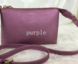 Wholesale Purple Cross Body Bag - 8 colors Brand Designer PU mini Shoulder Crossbody cross body Bags Female phone bag coin purses