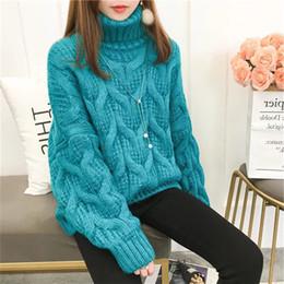 983e8c357650 Pullover autunno inverno donna basic dolcevita in cotone lavorato a maglia  stile coreano pullover casual ampio maglione elasticizzato a manica lunga  ...