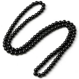 contas de pedra longa Desconto Handmade Preto Brilhante Onyx Natural Pedra De Energia Beads Nó Longo Colar Para Mulheres Dos Homens Sorte Unisex Jóias New Arrivals