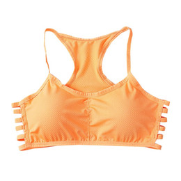 Wholesale Colorful Crop Tops - Style Bra Women Cotton Stretch Fitness No Rims Padded Colorful Push Up Crop Top YRD