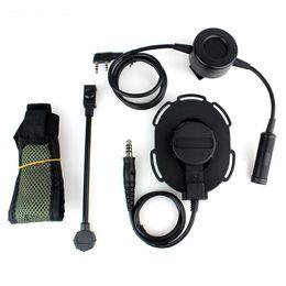 Wholesale Kenwood Ptt - HD03 Z Tactical Bowman Elite II Headset with Waterproof PTT Right Left Ear for Kenwood 2 Pin Two-way Radios Green