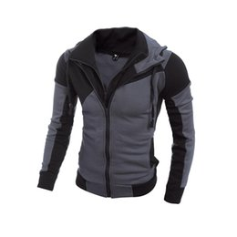 Wholesale Men Leather Sweatshirts - Wholesale- Men Hoodies Patchwork Leather Sleeve Fashion Hoodies Men Jacket Coat Brand Sweatshirt Casual Suit Pullover Tracksuits Masculino
