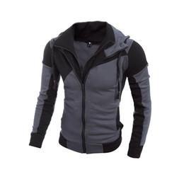 Wholesale Leather Jacket Hoodie - Wholesale- Men Hoodies Patchwork Leather Sleeve Fashion Hoodies Men Jacket Coat Brand Sweatshirt Casual Suit Pullover Tracksuits Masculino