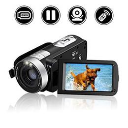 2019 enregistrer la webcam vidéo Caméra vidéo numérique HDV-302P 24MP 1080P Full HD Caméra numérique zoom numérique 16X avec caméscope DV anti-vibration 3 pouces CMOS
