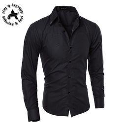 Wholesale Square Trim - Men's Dress Shirt Brand 2016 Tops Mens Slim Fit Blouse Long Sleeve Fashion Dress Men Shirts Trim Shirts Cardigans R1574