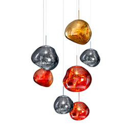 Wholesale Copper Master - Modern D30 40CM Tom DIXON Melt Pendant Lights Acrylic Lava Irregular Silver Gold Copper Mirror Hang Lamp for Living Room Lighting