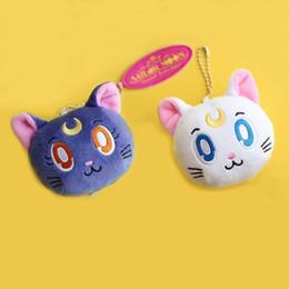 giocattoli di luna Sconti EMS Sailor Moon Cat Luna Face 6CM Peluche Bambola farcito Pendente Miglior regalo Peluche