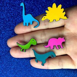 Jóia dos dinossauros on-line-Esmalte dos desenhos animados pequeno Dinossauro Broche Pinos Pinos de Lapela Emblema de Moda Jóias para Crianças As Mulheres Will e Sandy Drop Shipping