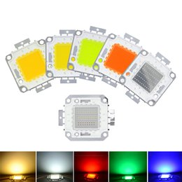 Chip led integrado rgb online-Lámpara LED COB de alta potencia Lámparas LED de 100W Chip DC 30-36V Fichas integradas SMD para proyector Proyector Blanco Rojo Verde Azul RGB
