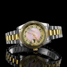 Wholesale Crystal Clocks - 2018 Fashion Dress Watches Women Men Faux Chronograph Quartz Plated Classic Round Crystals Watch relogio masculino Casual Clock