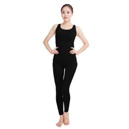 Wholesale Women Spandex Unitards - Ensnovo Women Ladies Dance Costumes Black Dancewear Gymnastics Suits Jumpsuits Playsuits Unitards Female Lycra Leotard Bodysuit