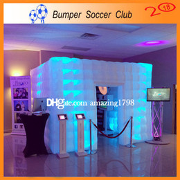 Wholesale party tent sales - Free Shipping ! Free Pump ! New style factory price LED wedding party inflatable photo booth  Inflatable photo booth tent For sale