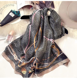 Wholesale Plain Gift Wrap - Brand luxury 100% silk scarf womens brand colorful shawl scarf fashion long scarves gift for women wholesale A152