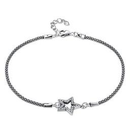 Accolades en dentelle en Ligne-Vintage chaîne en forme de chaîne en argent Sterling Bracelet dames à la mode Brace Lace Bracelet incrusté de zircon romantique