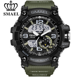 Argentina SMAEL Brand Men's Sport Watche LED Digital Display doble impermeable Casual Male Clock Relogios Masculino Men's Gift Relojes de pulsera cheap clock double Suministro