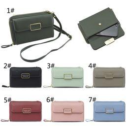 Wholesale Large Light Pink Leather Handbag - Leather Handbag Wallet Case Large Capacity Ladies Purse for Girls Wallet Female Phone Bag Case for iPhone Samsung