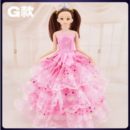"Wholesale Fashion Design Dolls - 12 Moveable Joint Body Princess Babe Doll 30cm 11"" Wedding Design Dress Suite Kids Toy Brinquedo Girl Gift"