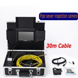 "Wholesale endoscope dvr - DHL Free AP70 30M Cable Underwater mini camera 7"" TFT LCD Sewer Pipeline Endoscope Inspection Snake Camera DVR Waterproof 6 Led ann"