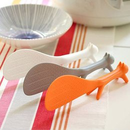 Подставка для ковша онлайн-Белка моделирование еда ложка милый стиль стенд прекрасный кухня рис совок белка Shaped ковш антипригарным риса весло еда ложка