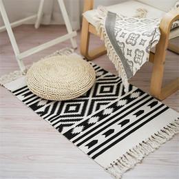 red sofas living room Promo Codes - 100% Cotton Retro Carpet For Sofa Living Room