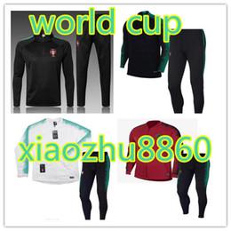 a665157d7a Copa del mundo 2018 PORTUGALing chándal Top Tailandia rojo negro 18-19  traje de entrenamiento pantalones de fútbol ropa de entrenamiento ropa  deportiva para ...
