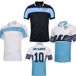 Футбольные майки Lazio 2019 18 19 тайского качества IMMOBILE домашние голубые белые черные LUIS ALBRTO DJORD JEVIC KISHNA от Поставщики голубой футбольный майка