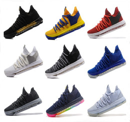 Wholesale Hot Basketball Shoes - Kids KD 10 Basketball shoes Hot Sale FMVP Signature Shoes Classic 9 Style Kevin Durant Sneaker Free Shipping&With Box