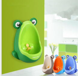 Wholesale Toilet Training For Kids - Frog Kids Potty Toilet Training Children Urinal for Boys Pee Trainer Bathroom Wall-Mounted Baby Potty Toilet Training 4 color KKA3923