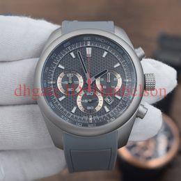 Correas de titanio online-NUEVOS deportistas 6612 Cronógrafo multifuncional Reloj de cuarzo Concha de titanio Correa de caucho Reloj pequeño Reloj Moda Hombre