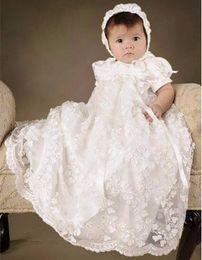 2019 battesimo bambino avorio Abito da Battesimo per neonato da neonato con cuffietto battesimo bambino avorio economici